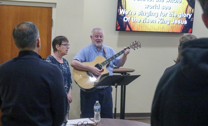 Contemporary Evening Service<br /> <div>Saturdays at 6PM <div>in the Gathering Place</div></div>