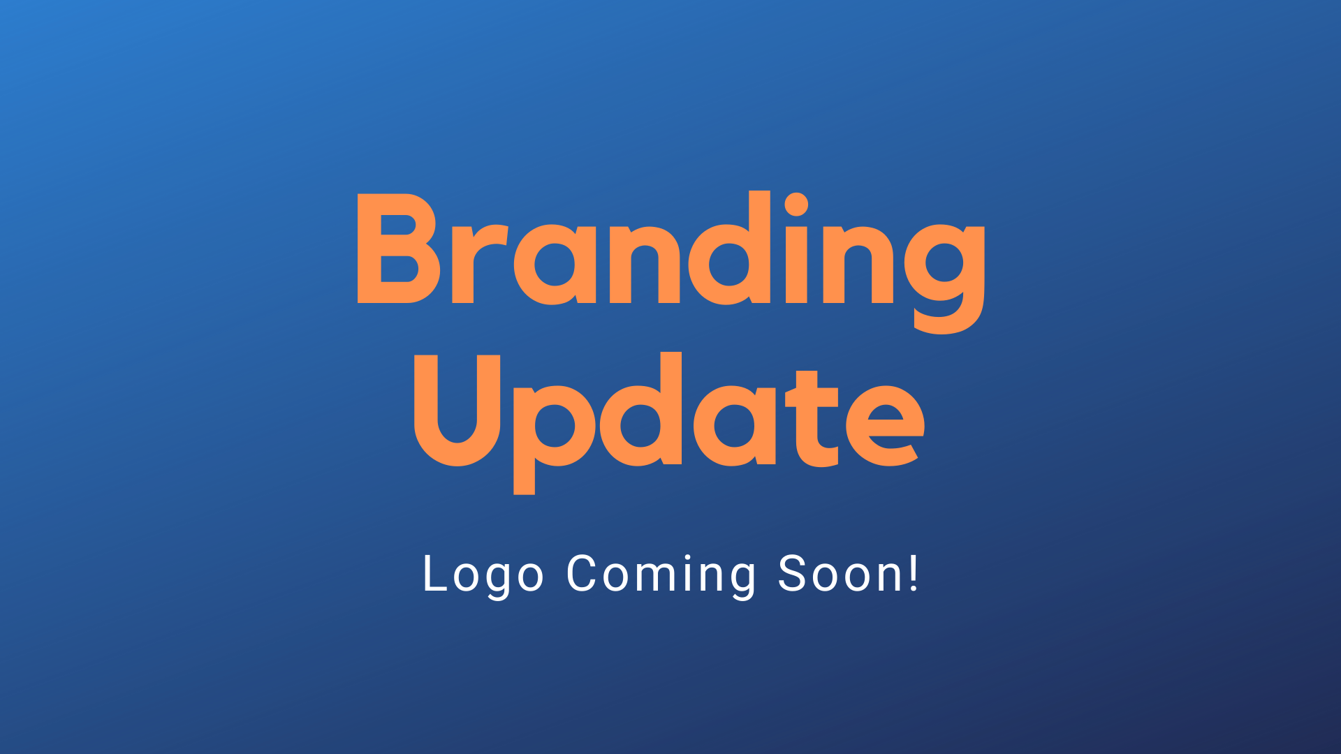 Branding Update