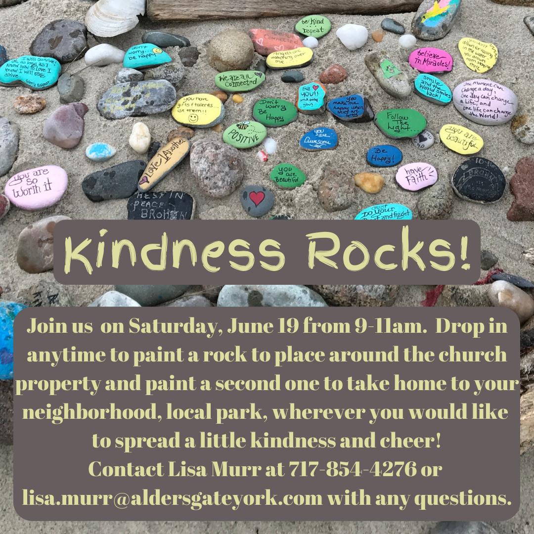 Amazing Adventures Kindness Rocks! Event - June 19th