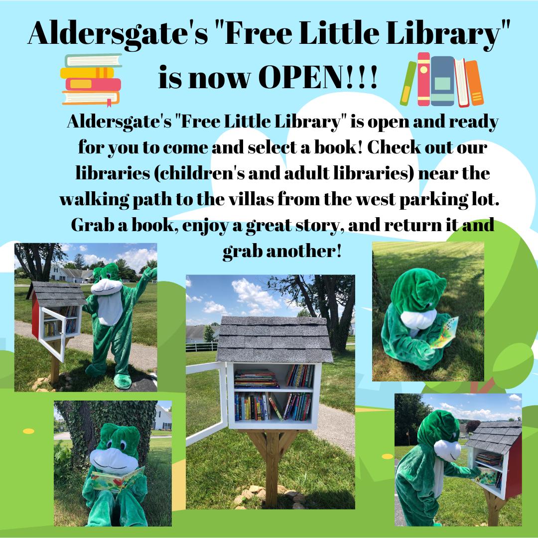 Aldersgate's Free Little Library