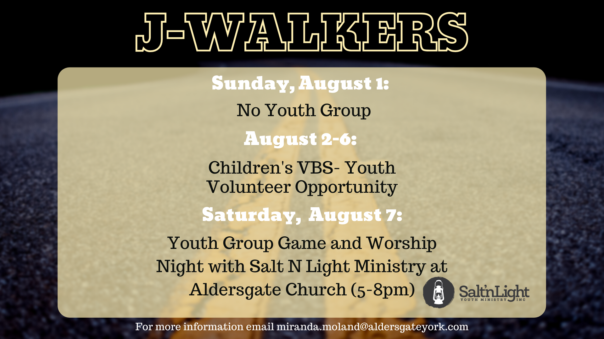 J-Walkers Youth Update