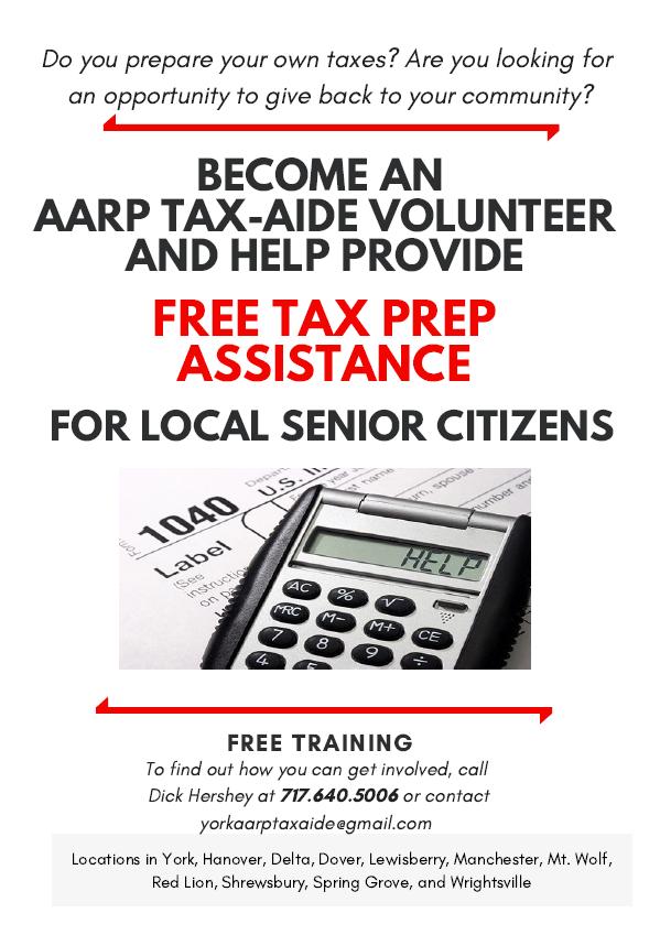 AARP Tax-Aide Volunteers Wanted