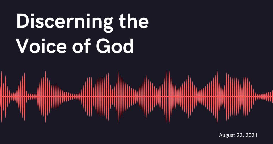 Discerning the Voice God